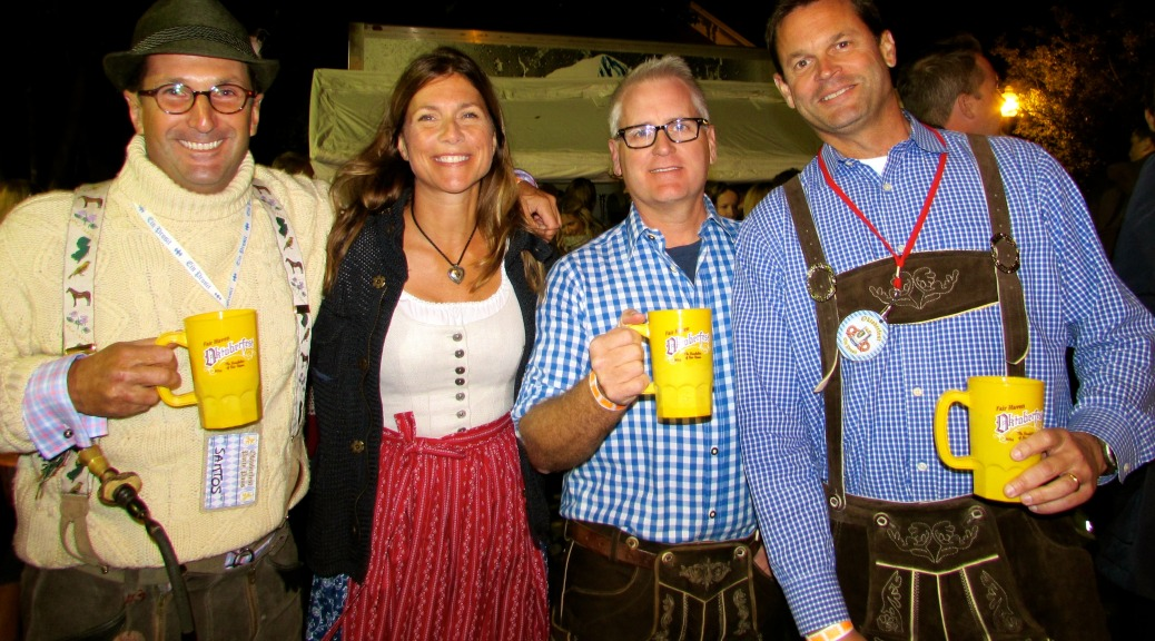 It's become a new tradition to get costumed to the hilt for Oktoberfest in Fair Haven, as these festive festival goers demonstrated in October. Photo/Elaine Van Develde