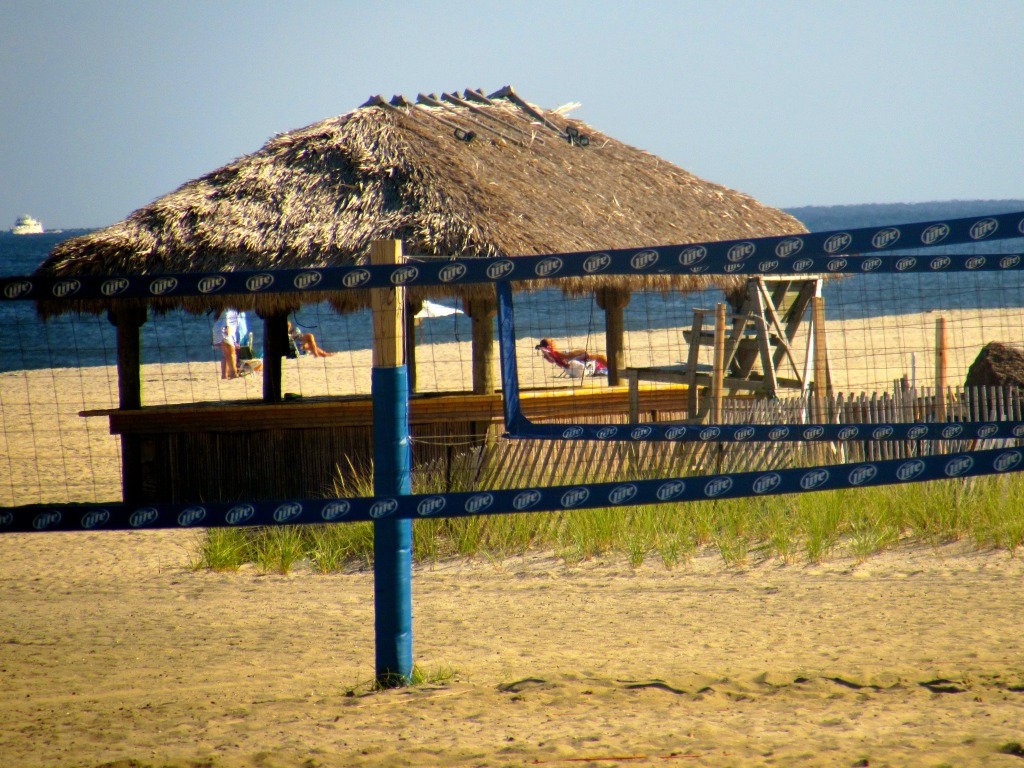 An empty tiki bar sits on the spot where Donovan's was bustling before Hurricane Sandy. Photo/Elaine Van Develde