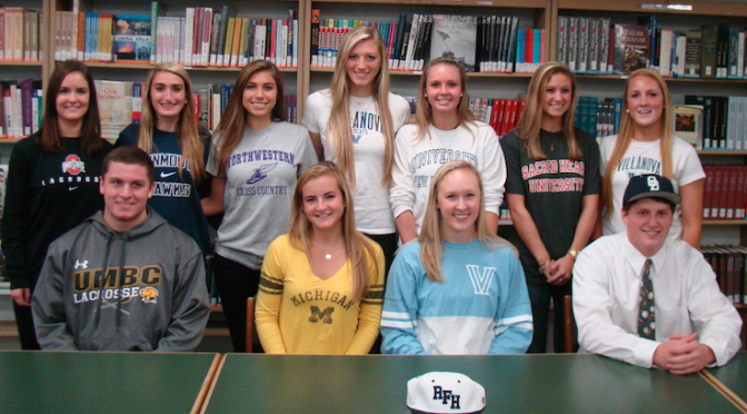 RFH Athletes Sign Letters of Intent