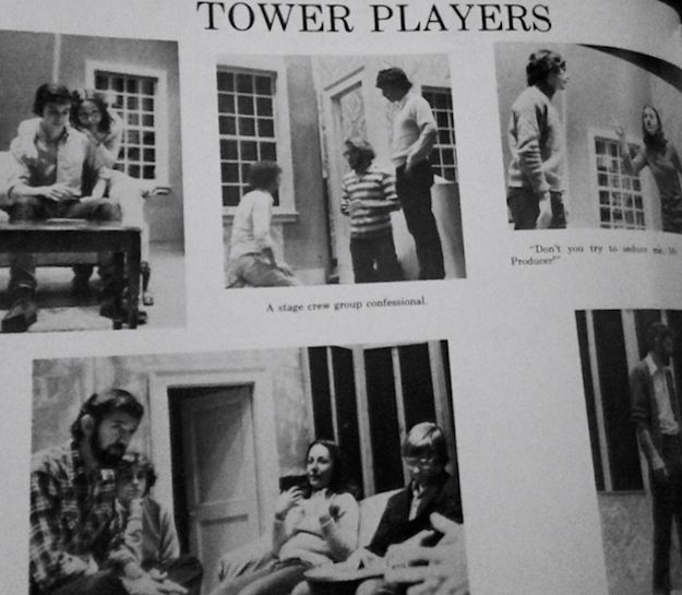 This was a rehearsal for Neil Simon's 'Plaza Suite' at Rumson-Fair Haven Regional High School circa 1977. Photo/screen shot of RFH yearbook.