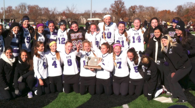 About the Big RFH Field Hockey NJSIAA Win