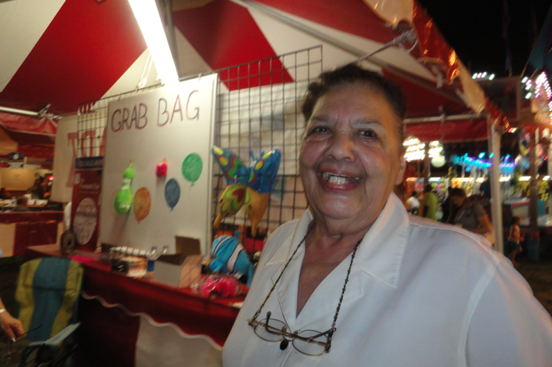 Jeanette Choma has lived in Fair Haven for 50 years and loves fair time.  Photo/Elaine Van Develde