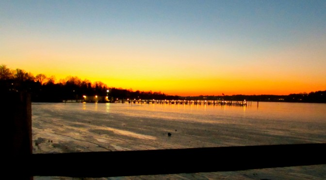 Navesink Nightfall Scene in Rumson