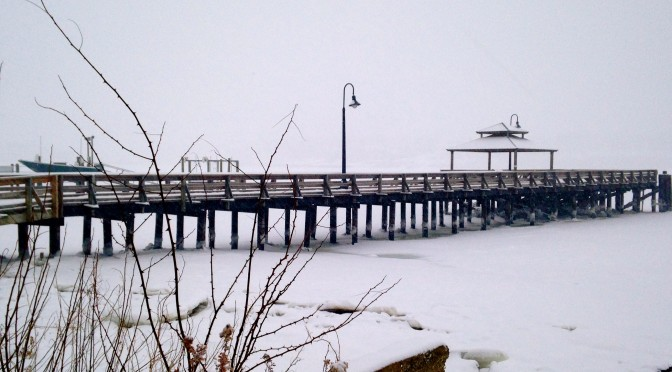 Fair Haven Dock Wrapped in a Snow Blanket