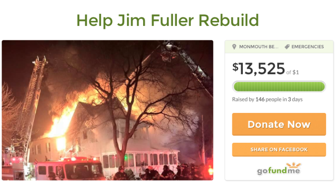 Funds Being Raised for Monmouth Beach Fire Victim