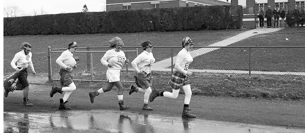 Those special RFH Powder Puff Football cheerleaders of the 1970s. Photo/George Day