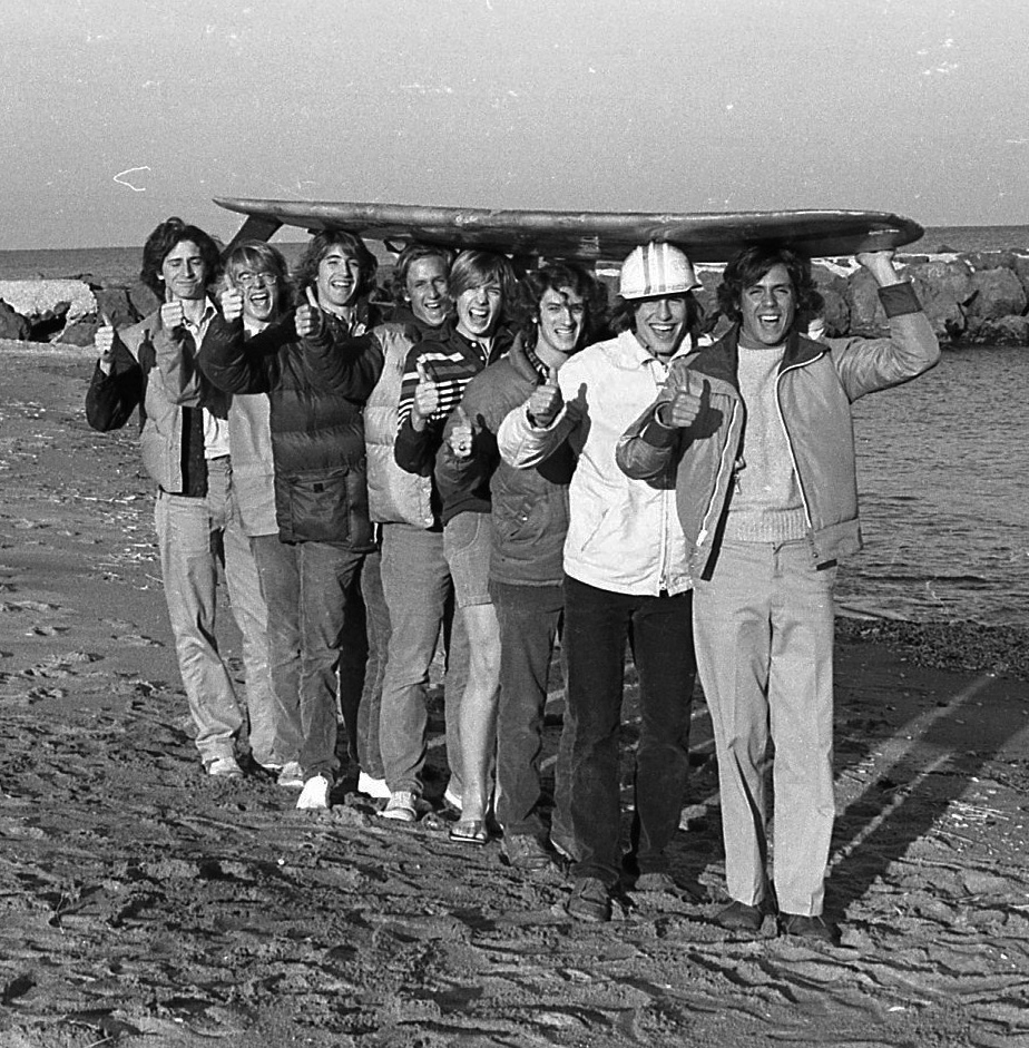 RFH surfer boys at the Sea Bright beach circa 1978. Photo/George Day