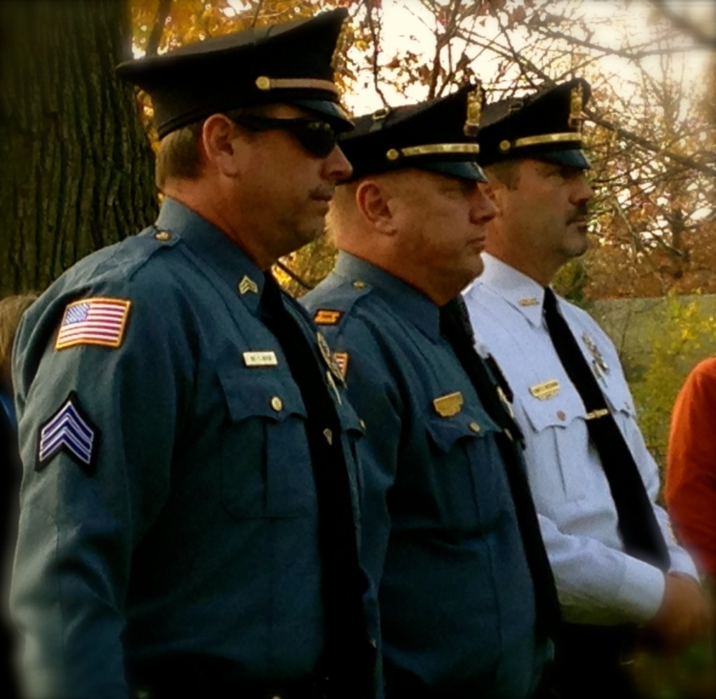 Rumson police at the 2015 borough Veterans Day ceremony Photo/Elaine Van Develde