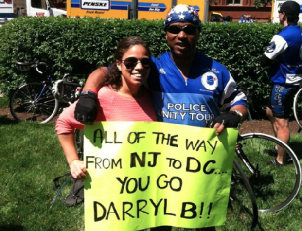 Fair Haven Police Chief Darryl Breckenridge and daughter Witney at the Police Unity Tour 2013 Photo/courtesy of Chief Breckenridge