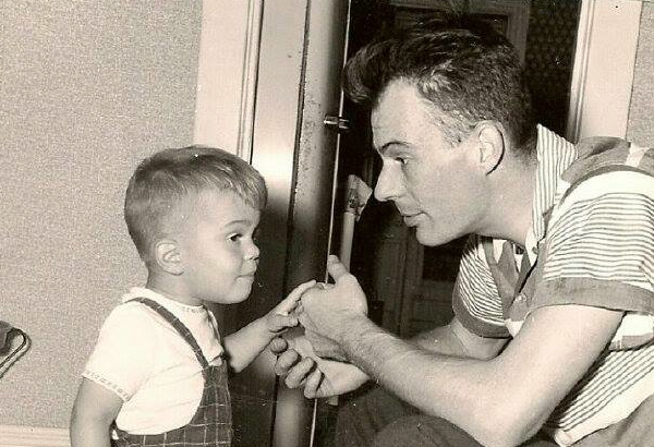 Former Fair Haven Schools Superintendent Robert Chartier and son Michael circa 1960s Photo/courtesy of Michael Chartier