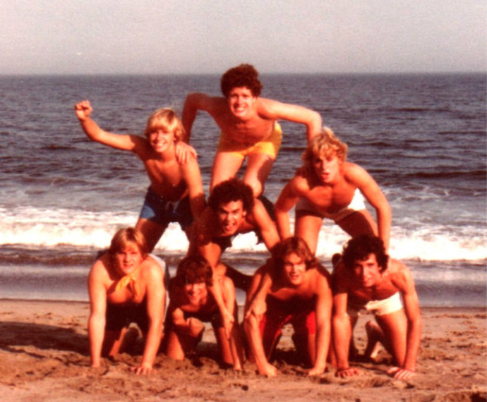 RFH Class of 1979 guys on a day at the beach Photo/courtesy of Paul Hughes, Class of '79 reunion slideshow