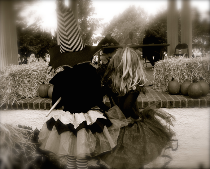 Witchy best pals in Rumson on Halloween 2015 Photo/Elaine Van Develde