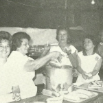 The ladies tending to the sausage, meatballs and sauce upstairs at the Fair Haven Firemen's Fair back in the day Photo/courtesy of Evie Connor Kelly, FHFD Yearbook