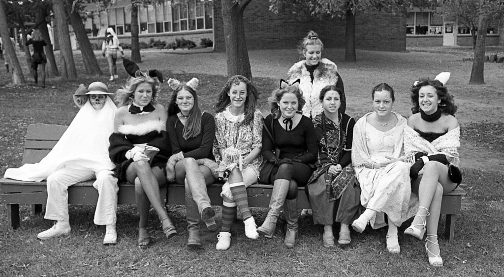 RFH Halloween of 1977 with a gaggle of girls Photo/George Day