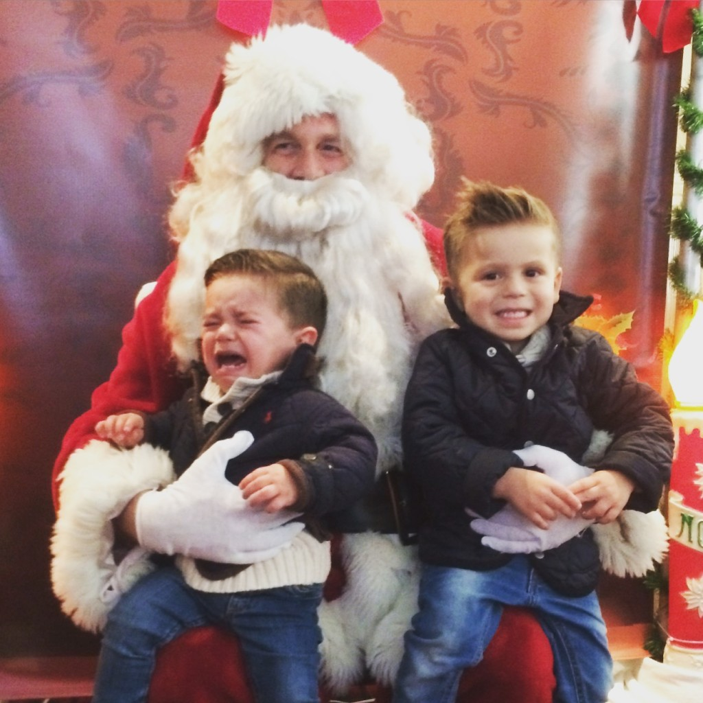 The Harvey boys' visit to Santa at the Fair Haven Firehouse 2015 Photo/Paula Harvey