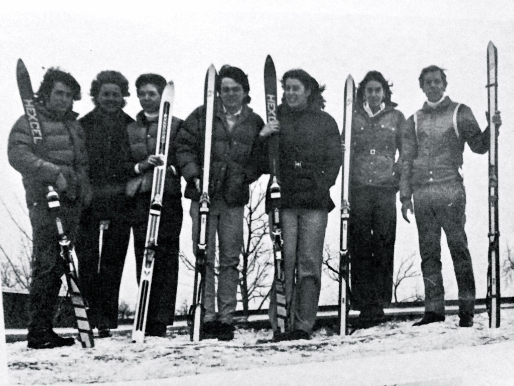 RFH Ski Club of the 1970s with club director Hal Lorme on the slopes. Photo/RFH yearbook