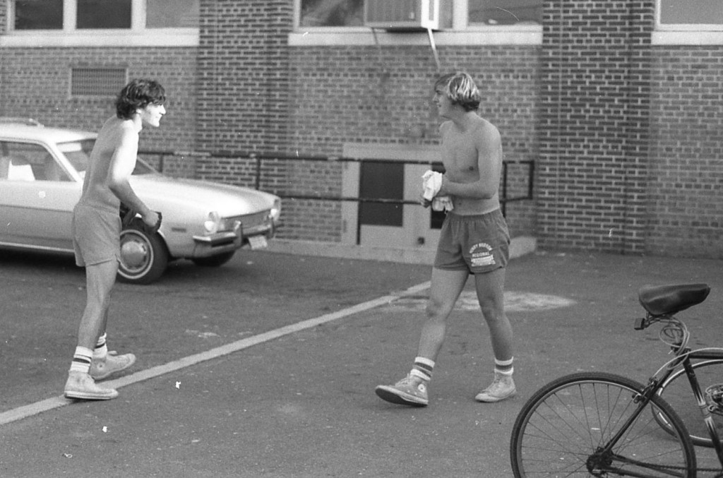 Some spring parking lot fun with RFHers in the 1970s Photo/George Day