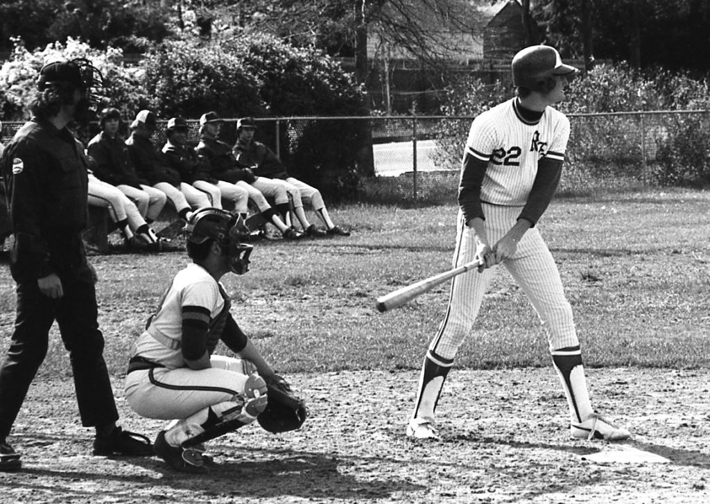 Playing baseball at RFH in the 1970s. Photo/George Day