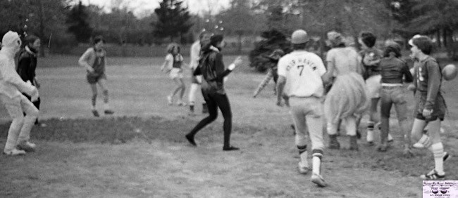 A Night of the Living something or other on the RFH ballfield in the 1970s Photo/George Day