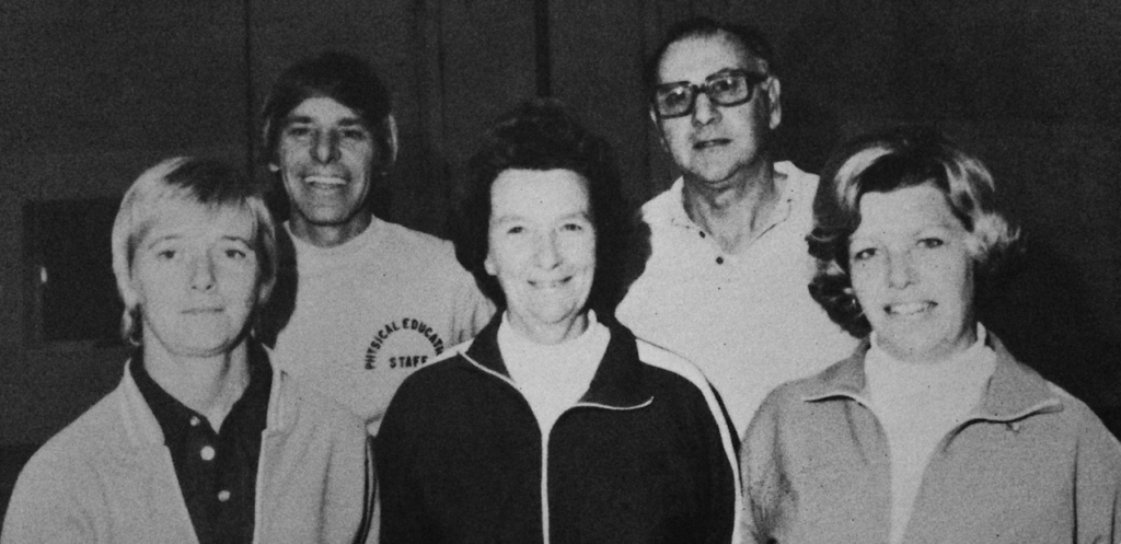 RFH gym teachers of the 1970s Photo/RFH yearbook