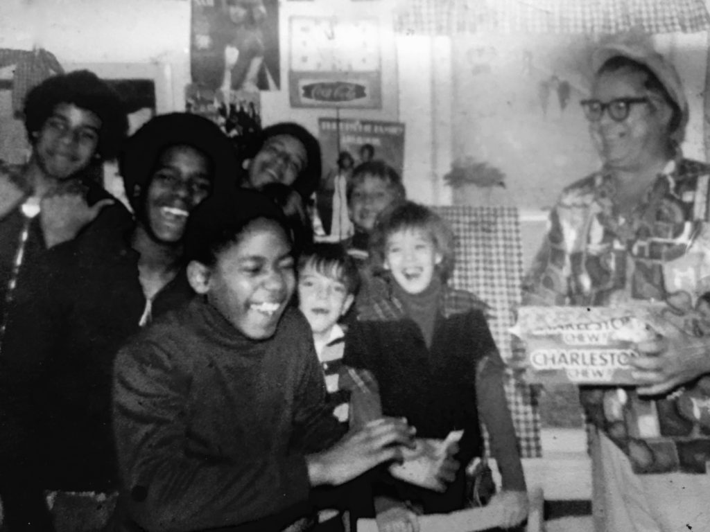 Frank Leslie Sr. and his gaggle of kids at the Whistle Stop in Fair Haven circa 1979 Photo/Elaine Van Develde