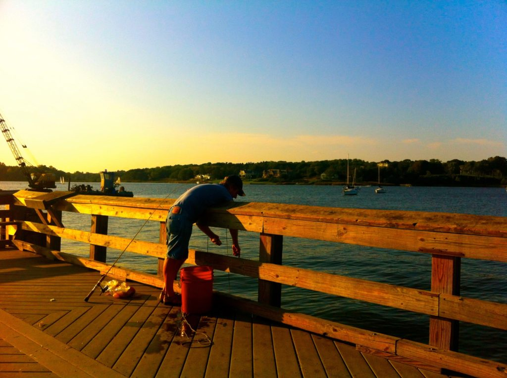 Crabbing at the Fair Haven Dock. Photo/Elaine Van Develde