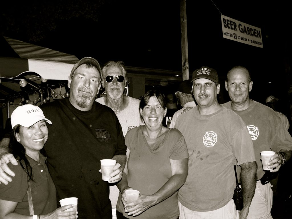 Rumson Fire Department folks at the Fair Haven Firemen's Fair 2015 Photo/Elaine Van Develde