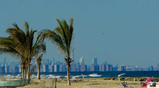Focus: NY Skyline View from a Sea Bright Beach