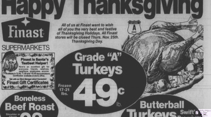 Retro Thanksgiving Meal Deals