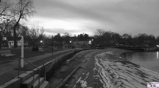 Focus: Black & White Rumson Riverfront Nightfall