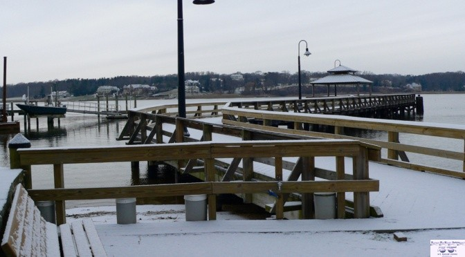 Focus: Snow Dust on the Dock