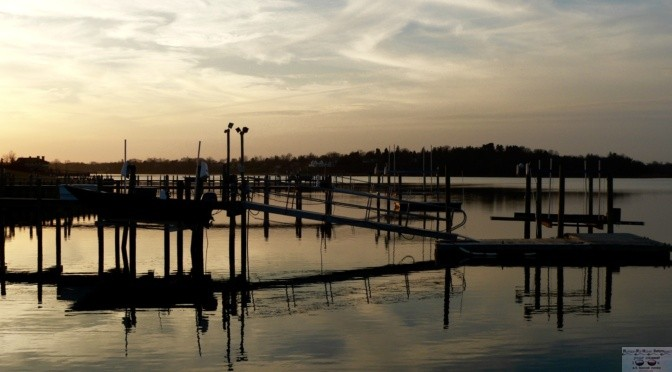 Focus: Reflective Nightfall at the Dock