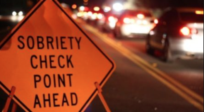 Northern Monmouth DWI Checkpoint Friday